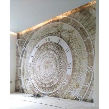Roman Clock Vinyl Wall Art Wallpaper