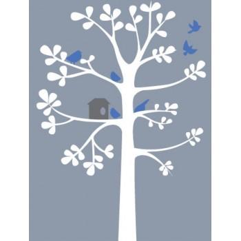 Winter Tree Vinyl Wall Art Wallpaper