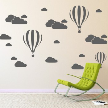 Baloons & clouds