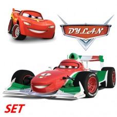 Cars set with custom name tag 2