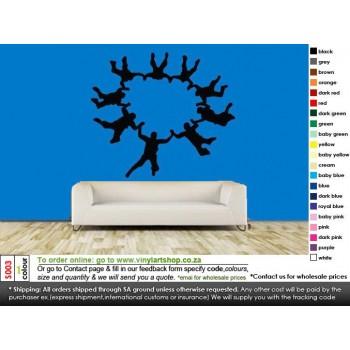 S003 Jumping Vinyl Wall Art