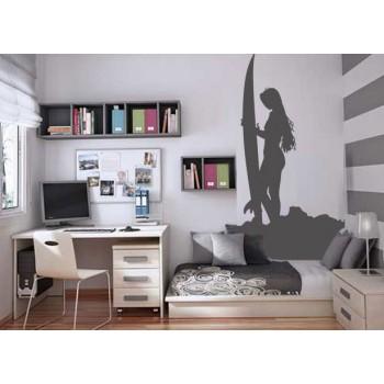 Surfer Girl Vinyl Wall Art Wallpaper