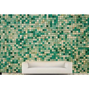 Tiles green Wall Vinyl Wall Art Wallpaper